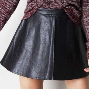 American Eagle Outfitters Black faux leather skirt